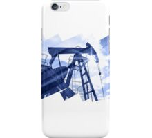 Pump jack abstract composition background. iPhone Case/Skin