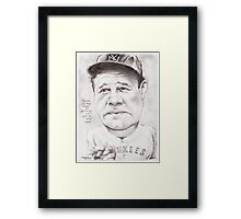 'Babe Ruth' gourmet caricature by Sheik Framed Print