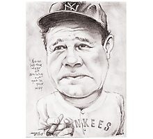 'Babe Ruth' gourmet caricature by Sheik Photographic Print