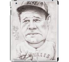 'Babe Ruth' gourmet caricature by Sheik iPad Case/Skin