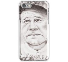 'Babe Ruth' gourmet caricature by Sheik iPhone Case/Skin