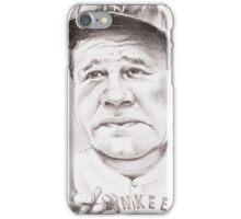 'Babe Ruth' gourmet caricature by Sheik iPhone Case/Skin