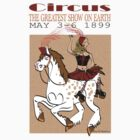 Circus Poster t-shirt by Diana-Lee Saville