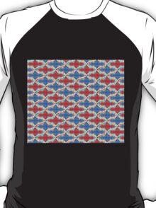 Red Blue Pastel Sequin Duvet T-Shirt