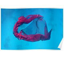 fabric underwater background Poster