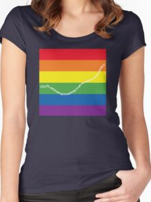 guilty gay pride family guy Women's Fitted Scoop T-Shirt