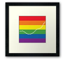 guilty gay pride family guy Framed Print