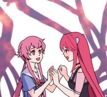 future diary mirai nikki elfen lied lucy yuno gasai anime manga shirt Sticker