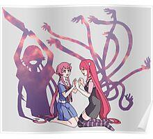 future diary mirai nikki elfen lied lucy yuno gasai anime manga shirt Poster