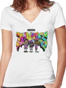 Flatbush Zombies 3 Women's Fitted V-Neck T-Shirt