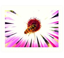 hoverfly on plant Art Print