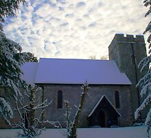 St Mary Magdalene, Denton 'More Snow Expected' by Dave Godden