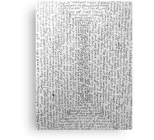 Words 1 Canvas Print