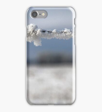 frost on barbed wire iPhone Case/Skin