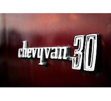 Chevy Van 30 Photographic Print