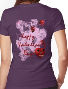 i heart u graphic valentine Womens Fitted T-Shirt