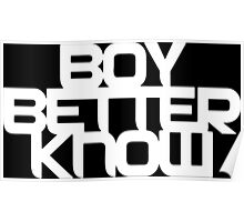 Boy Better Know - White Logo, Middle Placement Poster