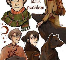 Sirius Black and Remus Lupin by nastjastark