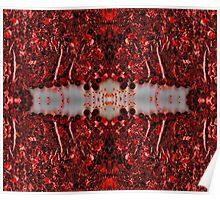 Red Sequin Duvet Poster