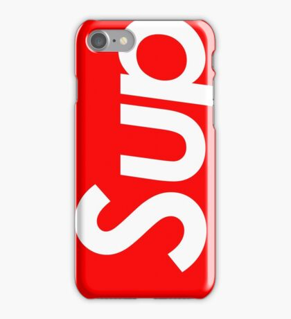 """Supreme style """"sup"""" iPhone Case/Skin"""