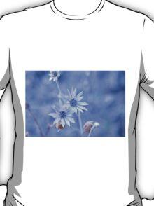 blue wild flower T-Shirt