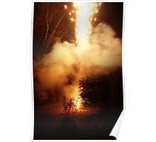 Magic firework fountain Poster