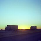 Trucker Sunset by Frank Romeo