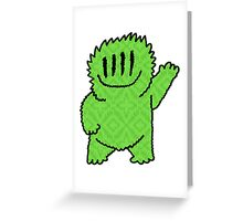 Big Mister Friendly Green Greeting Card