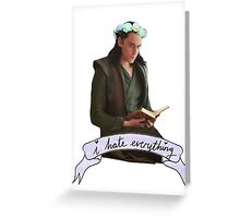 Flower Crown Loki Greeting Card