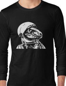 Space Dinosaur Velociraptor Astronaut Long Sleeve T-Shirt