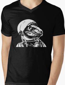 Space Dinosaur Velociraptor Astronaut Mens V-Neck T-Shirt