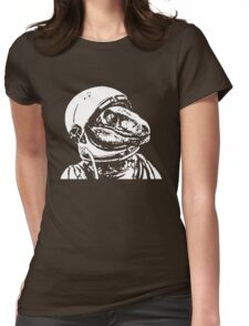 Space Dinosaur Velociraptor Astronaut Womens Fitted T-Shirt