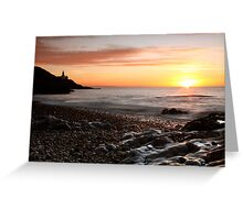 Sunrise - over Bracelet Bay, Swansea, Wales Greeting Card