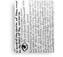 Words 7 Canvas Print