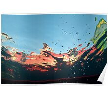 abstract underwater background Poster