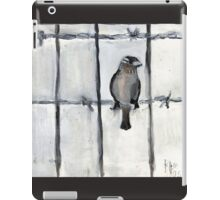 Bird (On A Barbed) Wire iPad Case/Skin