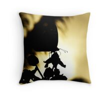 Butterfly Silhoutte Throw Pillow