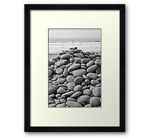 Pebble Ridge Framed Print