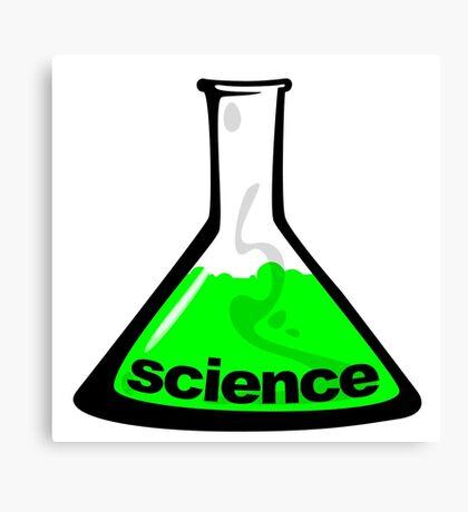 Science Beaker Green Canvas Print
