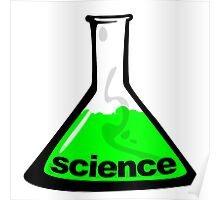 Science Beaker Green Poster