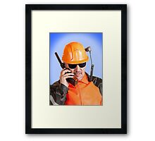 Industrial worker. Framed Print
