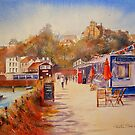 Summer by the harbour - Folkestone by Beatrice Cloake