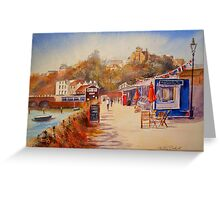 Summer by the harbour - Folkestone Greeting Card