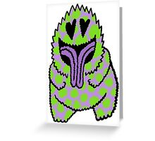 Freak Beast Lover Purple & Green Greeting Card
