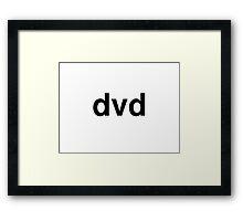 dvd Framed Print