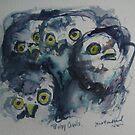 Baby Owls by Marcie Wolf-Hubbard