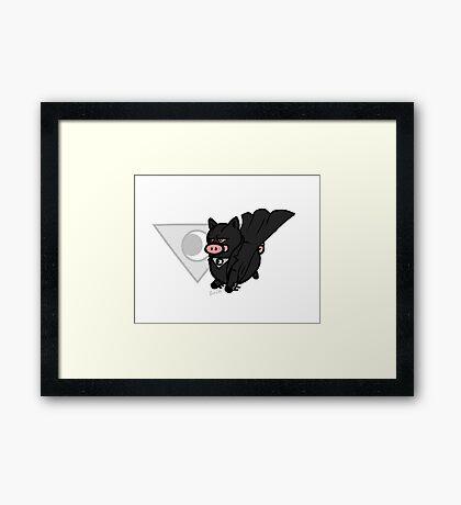 Midnighter Pig! Framed Print