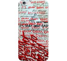 I Would Rather Not Go Back to the Old House iPhone Case/Skin