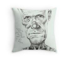 Walking Dead 'Merle' gourmet caricature by Sheik Throw Pillow