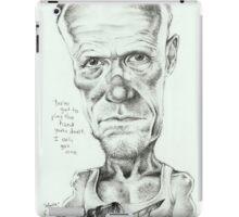 Walking Dead 'Merle' gourmet caricature by Sheik iPad Case/Skin